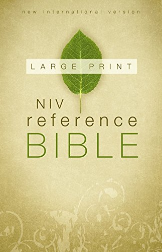 Large Print Reference Bible-NIV (Hardcover): Zondervan Publishing