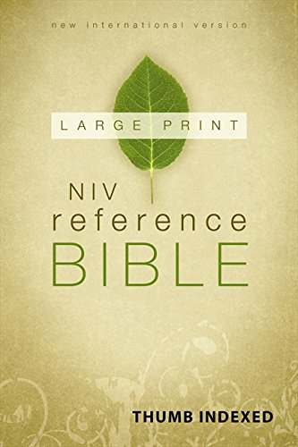 NIV, Reference Bible, Large Print, Hardcover, Indexed: Zondervan