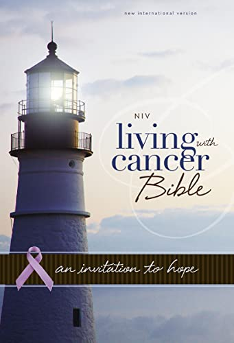 9780310431886: NIV, Living With Cancer Bible, Imitation Leather, Navy/Brown: An Invitation to Hope