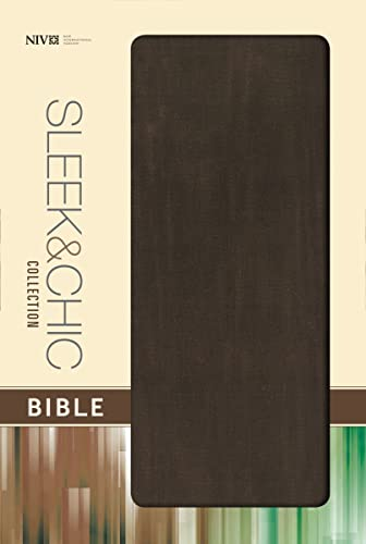 9780310431985: NIV, Sleek and Chic Collection Bible, Fabric Softcover, Brown Fabric, Red Letter Edition