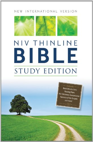 9780310432234: NIV, Thinline Bible, Study Edition, Hardcover