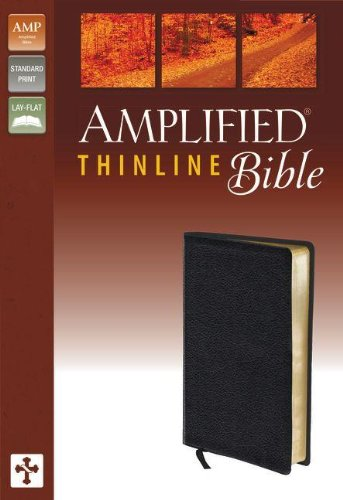 9780310432265: The Amplified Bible: Black, Bonded Leather, Thinline Bible