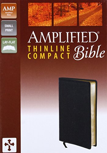 9780310432302: Amplified Thinline Bible, Compact, Bonded Leather, Black