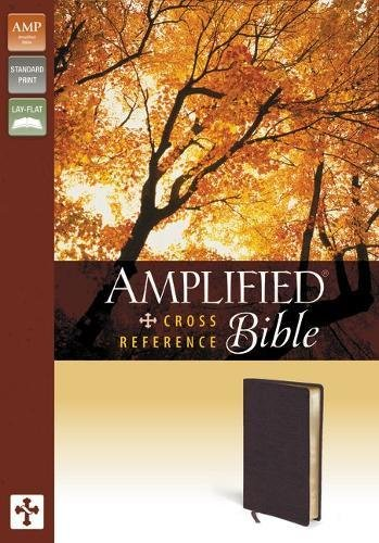 9780310432357: Amplified Cross-Reference Bible, Bonded Leather, Burgundy