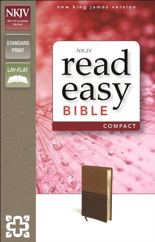 9780310432449: NKJV, ReadEasy Bible, Compact, Imitation Leather, Tan/Brown
