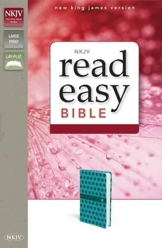 9780310432470: NKJV, ReadEasy Bible, Large Print, Imitation Leather, Blue