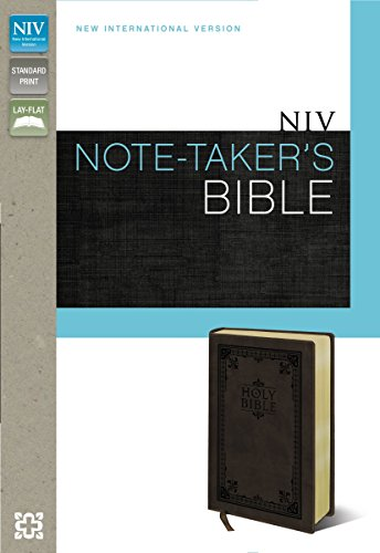 9780310432609: NIV, Note-Taker's Bible, Imitation Leather, Brown