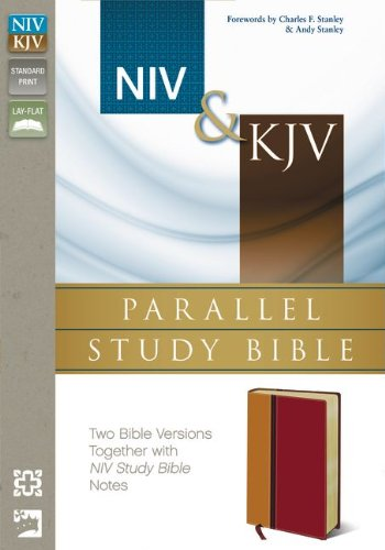 9780310432746: NIV, KJV, Parallel Study Bible, Imitation Leather, Red: Two Bible Versions Together for Study and Comparison