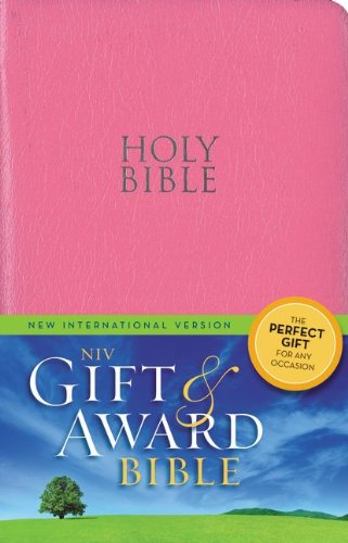 9780310432807: NIV, Gift and Award Bible, Leather-Look, Pink, Red Letter Edition