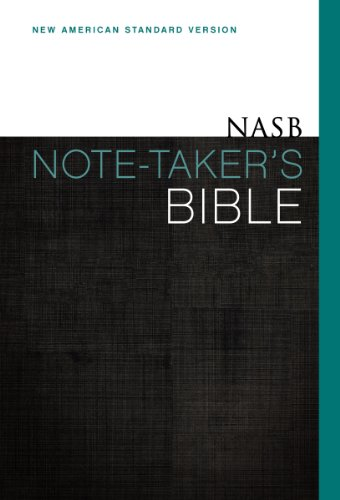 9780310433774: NASB, Note-Taker's Bible, Hardcover, Red Letter Edition