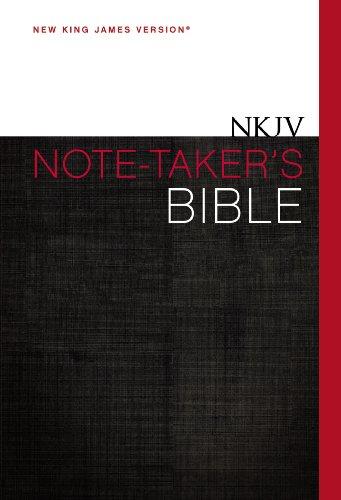9780310434139: NKJV, Note-Taker's Bible, Hardcover, Red Letter Edition