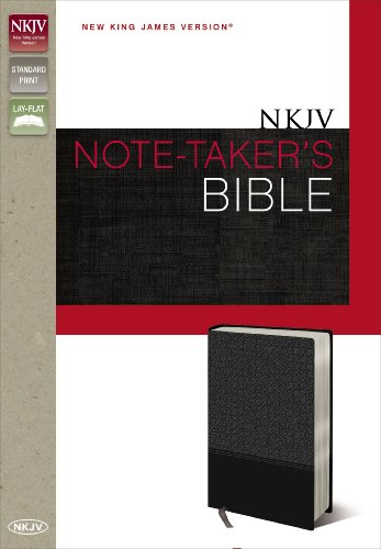 9780310434146: NKJV, Note-Taker's Bible, Imitation Leather, Gray, Red Letter Edition