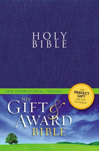 9780310434443: NIV, Gift and Award Bible, Leather-Look, Blue, Red Letter Edition