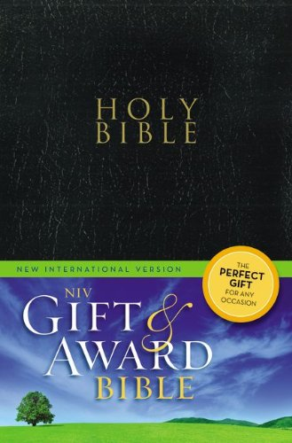 9780310434467: NIV, Gift and Award Bible, Leather-Look, Black, Red Letter Edition