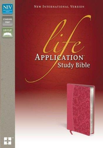 9780310434559: NIV, Life Application Study Bible, Imitation Leather, Pink