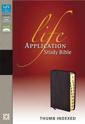 9780310434603: Life Application Study Bible: New International Version Burgundy Bonded Leather
