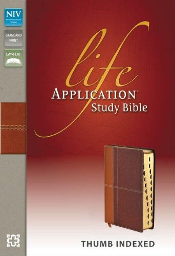 9780310434610: NIV, Life Application Study Bible, Imitation Leather, Tan/Brown, Indexed, Red Letter Edition