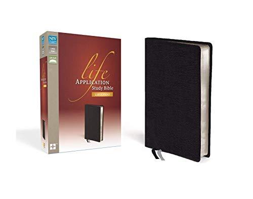 9780310434757: NIV, Life Application Study Bible, Large Print, Bonded Leather, Black