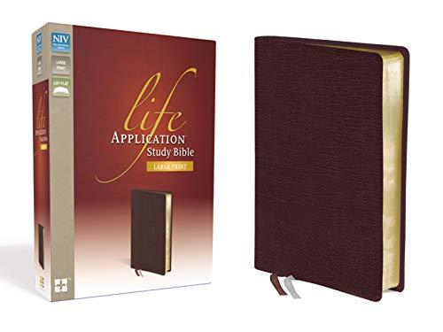 9780310434825: NIV, Life Application Study Bible, Large Print, Bonded Leather, Burgundy