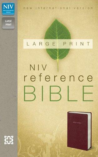 9780310434856: NIV, Reference Bible, Large Print, Imitation Leather, Burgundy