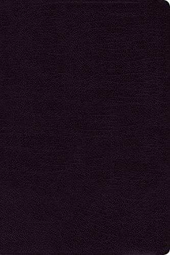 9780310434887: NIV, Reference Bible, Large Print, Bonded Leather, Black, Red Letter Edition