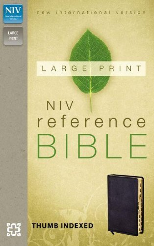 9780310434924: NIV, Reference Bible, Large Print, Bonded Leather, Black, Indexed, Red Letter Edition
