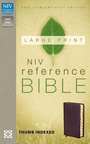 9780310434948: NIV, Reference Bible, Large Print, Imitation Leather, Burgundy, Indexed