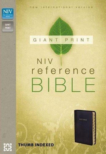 9780310435020: NIV, Reference Bible, Giant Print, Imitation Leather, Black, Indexed