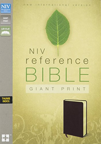 Giant Print Reference Bible-NIV (Bonded Leather): Zondervan Publishing
