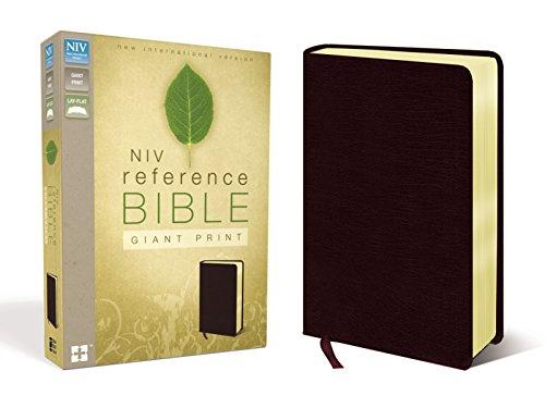 Reference Bible-NIV-Giant Print (Bonded Leather): Zondervan Publishing