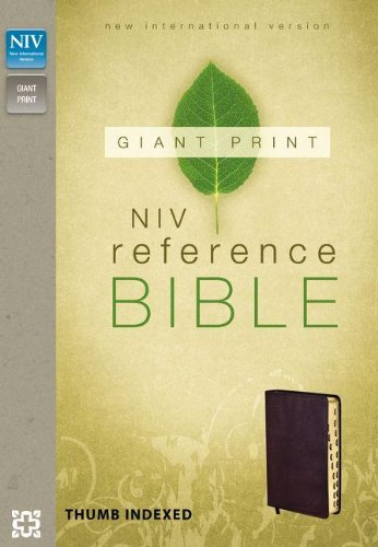 NIV Reference Bible, Giant Print Indexed: Zondervan