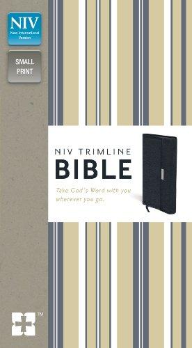 9780310435082: NIV, Trimline Bible, Bonded Leather, Navy, Red Letter Edition