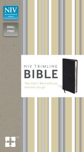 9780310435099: NIV, Trimline Bible, Bonded Leather, Black, Red Letter Edition