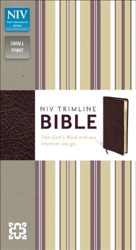 NIV, Trimline Bible, Bonded Leather, Burgundy, Red: Zondervan