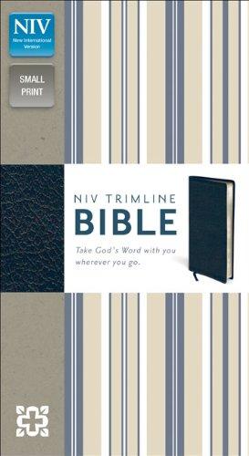 9780310435112: NIV, Trimline Bible, Bonded Leather, Navy, Red Letter Edition