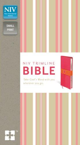 9780310435150: NIV, Trimline Bible, Imitation Leather, Pink/Orange, Red Letter Edition