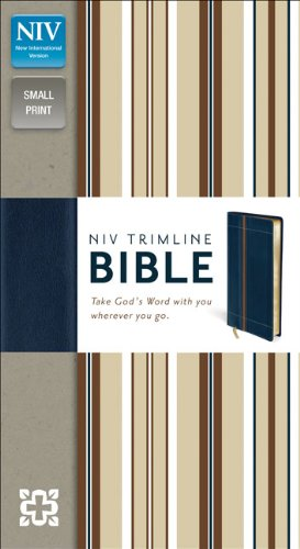9780310435174: NIV, Trimline Bible, Imitation Leather, Navy/Tan, Red Letter Edition