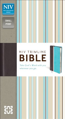 9780310435204: NIV, Trimline Bible, Imitation Leather, Turquoise/Brown, Red Letter Edition