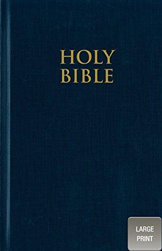 9780310435266: NIV, Pew Bible, Large Print, Hardcover, Blue