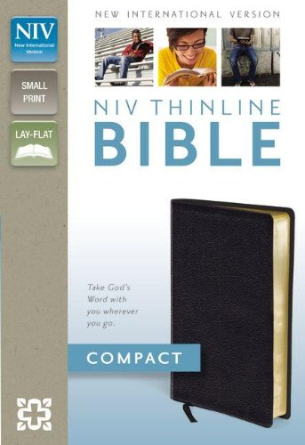 9780310435464: NIV, Thinline Bible, Compact, Bonded Leather, Black, Red Letter Edition