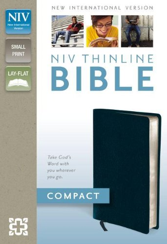 9780310435471: NIV, Thinline Bible, Compact, Bonded Leather, Navy, Red Letter Edition