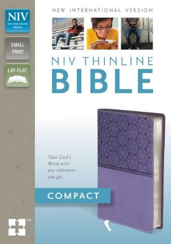 9780310435525: NIV, Thinline Bible, Compact, Imitation Leather, Lavender, Red Letter Edition