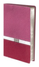 9780310435549: NIV, Thinline Bible, Compact, Imitation Leather, Pink/Burgundy, Red Letter Edition