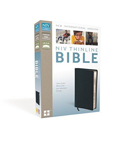 9780310435655: NIV, Thinline Bible, Bonded Leather, Navy, Red Letter Edition