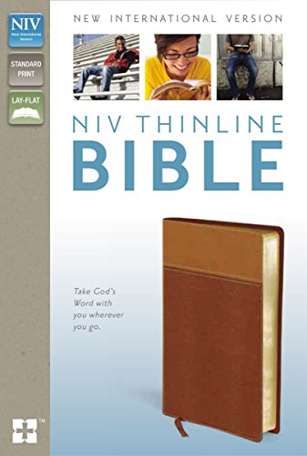 9780310435662: NIV, Thinline Bible, Imitation Leather, Tan/Brown, Red Letter Edition