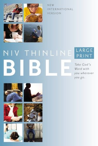 9780310435877: NIV, Thinline Bible, Large Print, Hardcover, Red Letter Edition