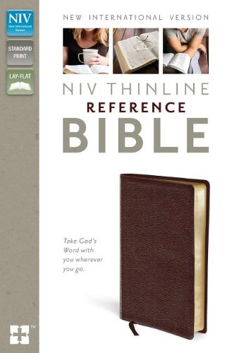 9780310436249: NIV, Thinline Reference Bible, Bonded Leather, Burgundy, Red Letter Edition