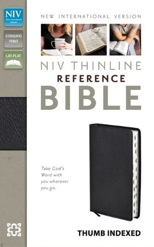 9780310436287: Holy Bible: New International Version, Black Bonded Leather, Thinline Reference