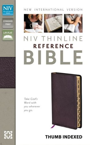 9780310436294: NIV, Thinline Reference Bible, Bonded Leather, Burgundy, Indexed, Red Letter Edition