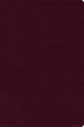 9780310436355: NIV, Thinline Reference Bible, Large Print, Bonded Leather, Burgundy, Red Letter Edition